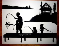 Silhouette Pictures by Master Silhouette Artist Karl Johnson: These are cut by just LOOKING at a photo!  Amazing!
