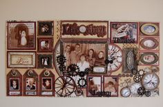 Two Page Heritage Layout by Jamie Penson ~ Love the photo tags! **Click on photo to enlarge.