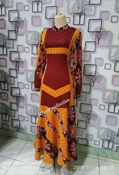 African Maxi Dresses, Latest African Fashion Dresses, Women's Fashion Dresses, Dress Batik Kombinasi, Mode Batik, Casual Frocks, Frock For Women, Batik Fashion, Batik Dress