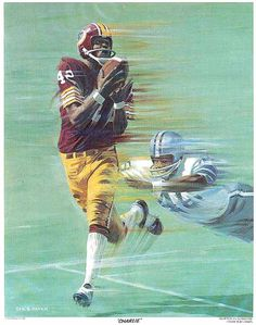 Charley Taylor, McDonalds Redskins Poster art by George G. Nfl Football Players, Football Art, Vintage Football, Redskins Fans, Redskins Football, Redskins Pictures, Nfc East Division, Long Beach State, Fedex Field