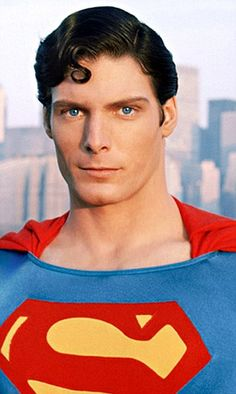 christopher reeve superman - the one and only Superman! This man on my tv screen all day & I'll be one happy little girl.