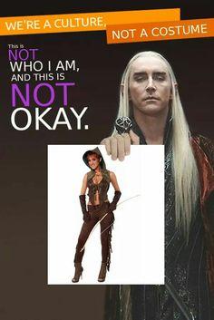 #CulturalAppropriation #Halloween #Elf #Elves #Thranduil #Elvenking #Middle-Earth #LotR #Tolkien #Meme #PoliticalCorrectness #PC