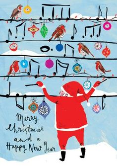 I rarely see japanese christmas cards this stylized one from the merry christmas and happy new year cards m4hsunfo