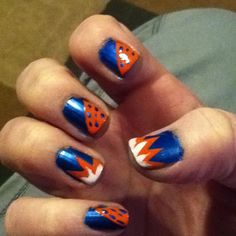 Okc thunder nail design nail designs pinterest thunder thunder nails prinsesfo Image collections