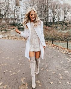 45 Comfy and Classy Oversized Sweater Outfits For Winter Fashion, Sweater Dress Outfit, Winter Dress Outfits, Cute Fall Outfits, Winter Fashion Outfits, Look Fashion, Trendy Outfits, Autumn Fashion, Sweater Dresses, Christmas Outfit Women Dressy