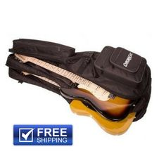 ChromaCast Pro Series Double Electric Guitar Padded Gig Bag Soft Case Backpack | Musical Instruments & Gear, Guitars & Basses, Parts & Accessories | eBay!