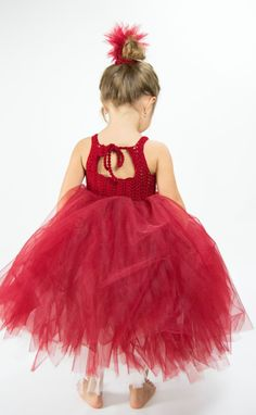 Double Layered Puffy Tutu Dress  with Lace Stretch Crochet