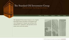 Web Design Concept created for The Standard Oil Investment Group -- via Executionists