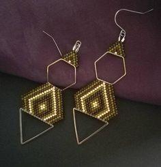 hexagon earrings geometric earrings minimalist earrings