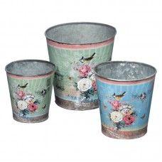 Ghivece Camelia set 3 buc H10-14 Sugar Bowl, Bowl Set, Planter Pots, Jar, Home Decor, Decoration Home, Room Decor, Jars, Drinkware