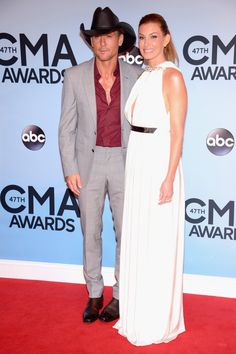 Country Faith Hill And Tim Mcgraw See More Red Carpet Looks Here Gt