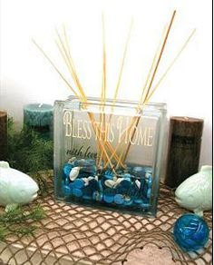 Glass block reed diffuser DIY
