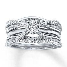 Kay - Diamond Enhancer Ring 3/4 ct tw Round-cut 14K White Gold
