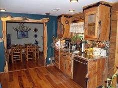 Western Rustic Kitchen Cabinets | ... Photos: Rustic Style Custom Cabinets, Western Dresser, Western Shelves