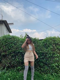 Date Outfits, Pink Aesthetic, Ootd Fashion, White Shorts, Skirts, How To Wear, Clothes, Women, Kleding