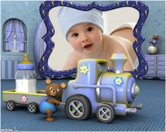 Baby alegre. Click to add a photo of your little one!  #baby #babyphotos #choochootrain #lavendar