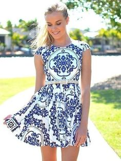 spring dress #fashion #stylish #clothing
