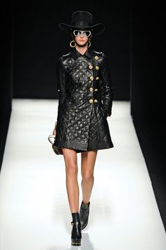moshino fall '12; quilted leather