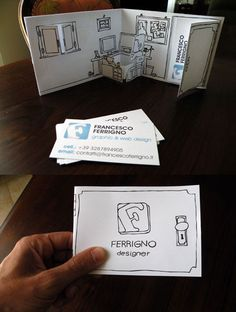 6.folded business cards
