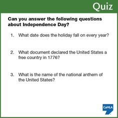 Quiz questions and answers