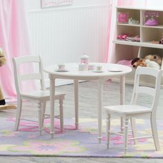 Have to have it. Classic Playtime Spindle Table with Optional Spindle Chairs - Vanilla - $119.99 @hayneedle 2 or 4 chairs