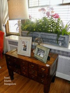 planter made with old shutters