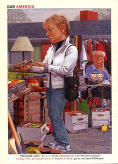 "illustrations on the back of readers digest | Reader's Digest back cover, March 2007Illustration: ""Treasure Hunt ..."