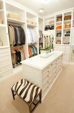 My dream closet, minus that hideous zebra stool
