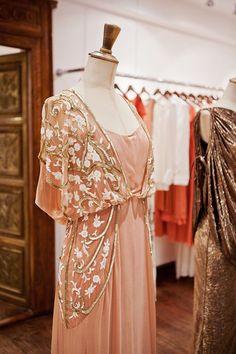 The Long Sefarina Dress by Temperley London @TemperleyWorld Photo by @KirstenMavric  Beautiful embellished peach dress