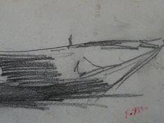 """MANET Edouard - La Barque (drawing, dessin, disegno-Louvre RF30557) - Detail 2   -   TAGS / drawing dessins dessin disegno personnage figure figures people personnes art painter peintre peintre details détail détails detalles 19th 19e """"dessins 19e"""" """"19th-century drawing"""" """"19th century"""" """"details of drawing"""" """"details of drawing"""" croquis étude study sketch sketches """"Édouard Manet"""" Édouard Manet Louvre Barque bark barge rowboat"""