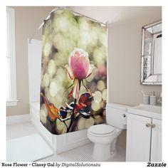 Rose Flower - Classy Gal Shower Curtain