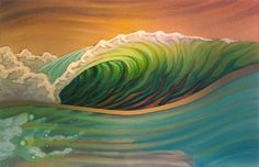 I hope you enjoy these beautiful paintings by Matt Beard . He is a surf artist from Humbolt County California( I used to live there too. Beard Art, Posca Art, Hawaiian Art, Surfboard Art, Wave Art, Art Sculpture, Ocean Art, Ocean Waves, Tropical Art