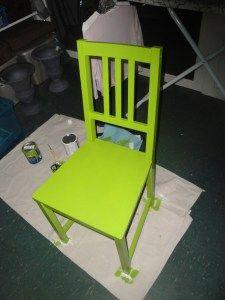 Ikea Stefan chair repainted from original black