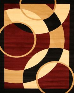 2052 Red - Bargain Area Rugs  - 1