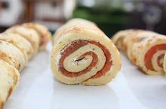 Lachsröllchen / rollitos de salmón