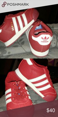 Toddler Adidas Red and white adidas Shoes Sneakers