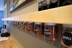 DIY Spice Jar Storage