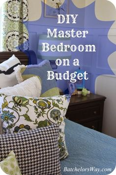bluegreenbrown, bedroom idea, master bedroom diy, master bedroom green, batchelor