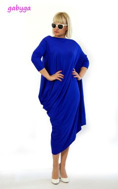 New collection/Roual blue tunic/Oversize by Gabygaclothes on Etsy