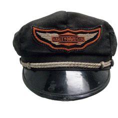 e29bdef3180b1 Vintage 1950s Harley Davidson Cap Mens Harley Davidson Road Captain... ($55)