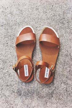 leather strap sandal #stevemadden