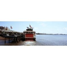 Paddleboat Natchez in a river Mississippi River New Orleans Louisiana USA Canvas Art - Panoramic Images (36 x 13)