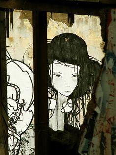 Street Art by Greek artist JOAD. Athens, Greece.