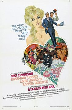 "MP376. ""A Flea in Her Ear"" Movie Poster by Mitchell Hooks (Jacques Charon 1968) / #Movieposter"