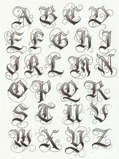Gangster Alphabet Tattoos Page 3