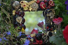 Handmade Goth  mirror rockabilly steamunk by MosaicTreasureBox