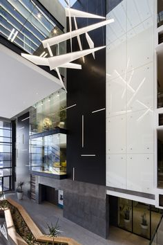 Custom light design for the entrance to FNB headquarters in Bloemfontein, South Africa