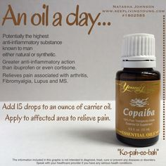 """Copaiba essential oil - """"Ko-pah-ee-bah"""" Young living essential oils heal naturally www.youngliving.com #becomeamember sponsor ID #1867642"""
