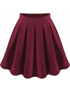 To find out about the Wine Red Flare Pleated Skirt at SHEIN, part of our latest Skirts ready to shop online today! Lila Outfits, Skirt Outfits, Pretty Outfits, Cute Outfits, Red Skirts, Cute Skirts, Short Skirts, Maxi Skirts, Wool Skirts