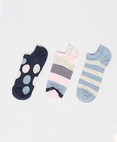 Pack of maxi polka dot pattern ankle socks - OYSHO